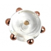 Glass Lamp Bead 6X10mm Spacer Crystal/Bronze